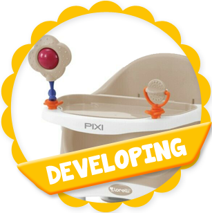 Baby Toddler Feeding Chair PIXI Lifting Seat 6 Months Up to 15kg Non Slip New