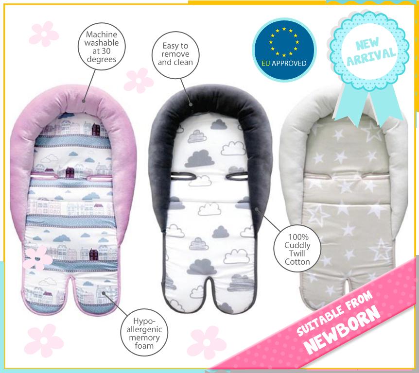 Head Support Car Seat Cushion Baby Newborn Support Pillow Head Kikka Boo New