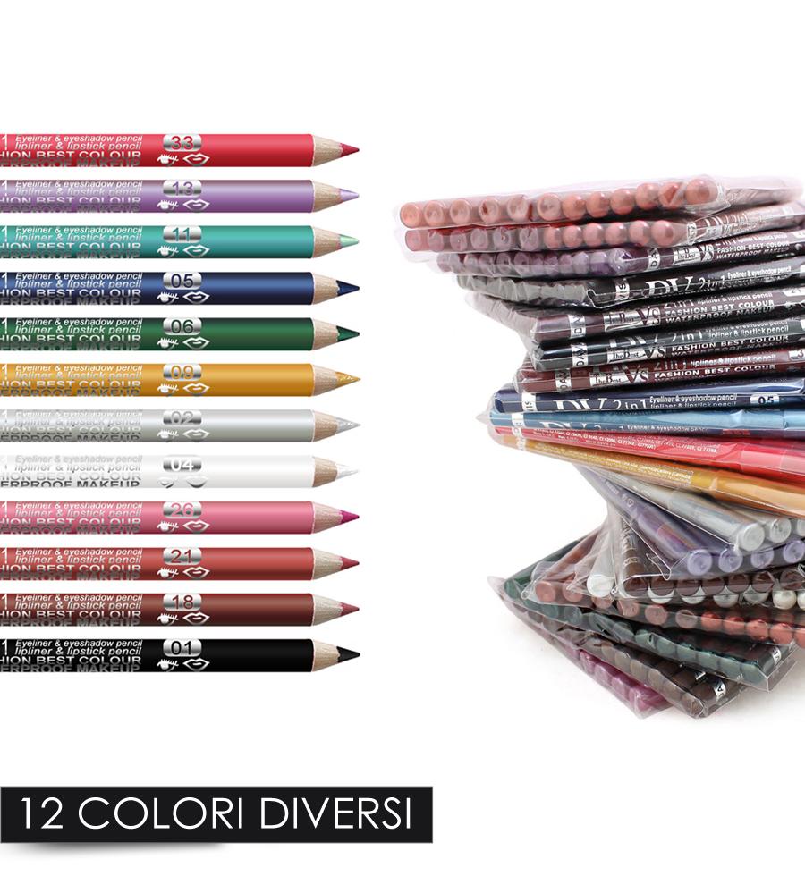 12 matita per occhi eyeliner 12 colori diversi penna - Occhi colori diversi ...