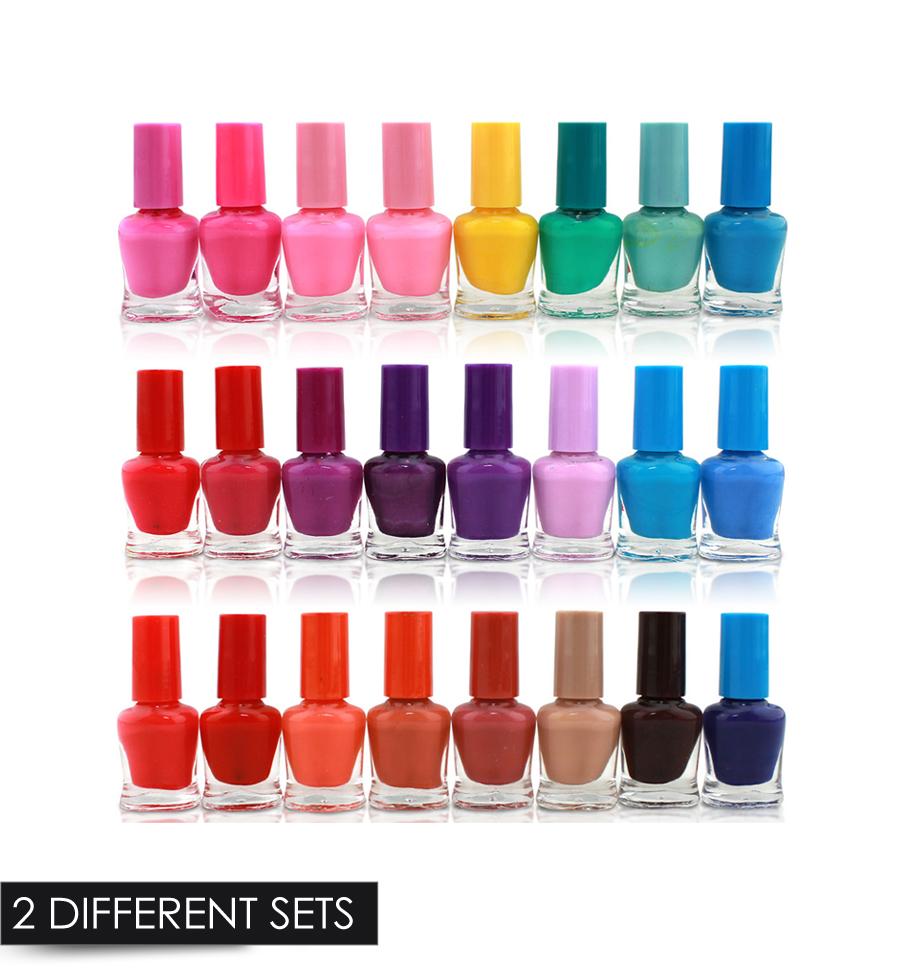 24 CANDY NAIL POLISH VARNISH SET MANY DIFFERENT COLOURS LUXURY BOX ...