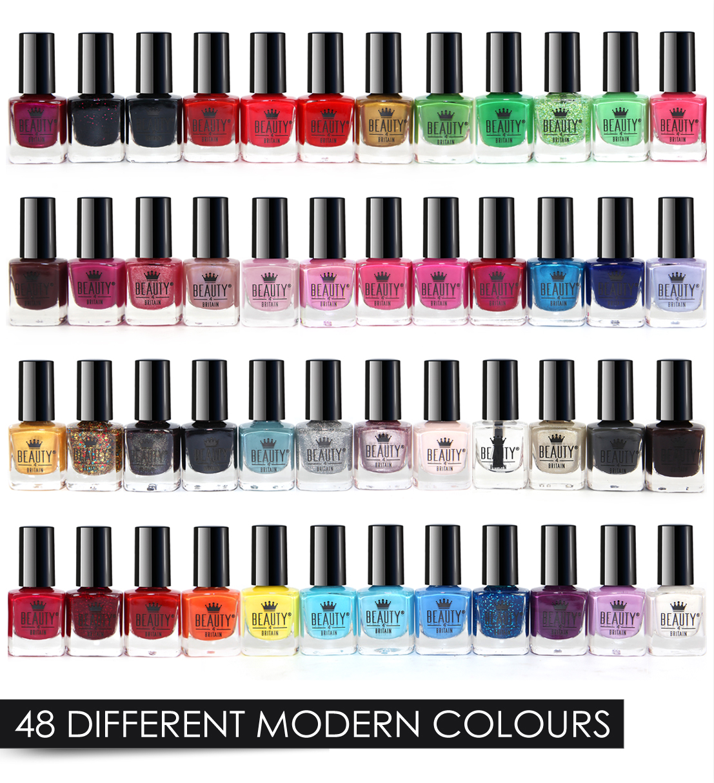 Splash 24 x Nail Polish Varnish Set 48 Different Modern Colours ...